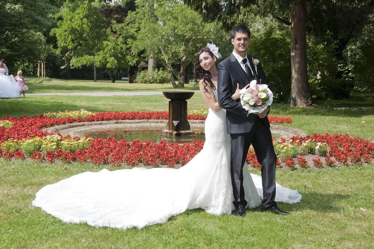 צילום של חתן וכלה
